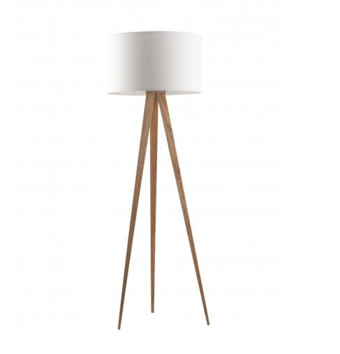 Lampadaire blanc Tripod Wood Zuiver de chez Mooviin